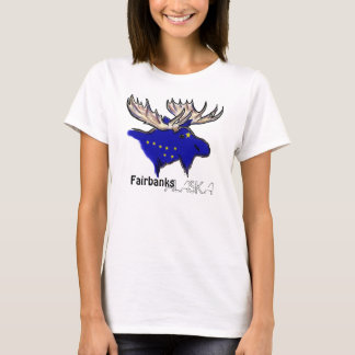 Fairbanks Alaska local flag ladies tee