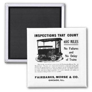 Fairbanks Morse Track Inspection Motor Car Refrigerator Magnets