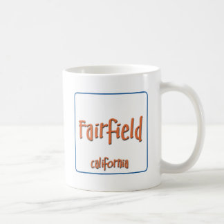 Fairfield California BlueBox Basic White Mug