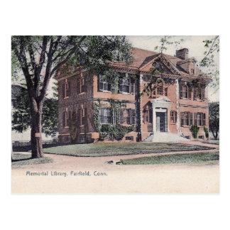 Fairfield, Connecticut, Library, Vintage Postcard