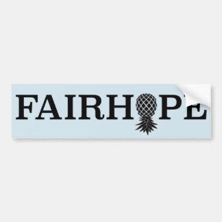 Fairhope bumper sticker - upside down pineapple