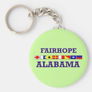 Fairhope Flag Keychain