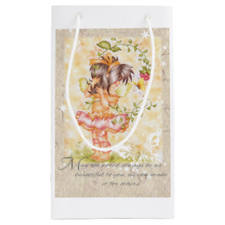 Fairie with berries and butterfly gift bag