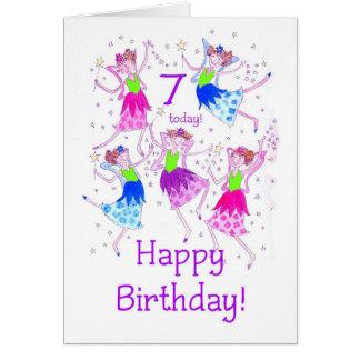 'Fairies' 7th Birthday Card