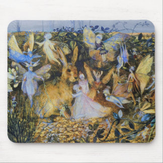 Fairies and Rabbit Mouse Pad