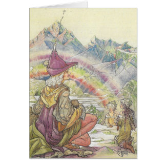 Fairies and Rainbow, Card