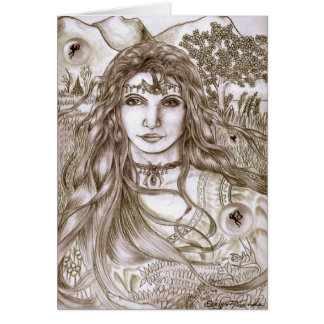 Fairies are Real Goddess Mother Earth Card