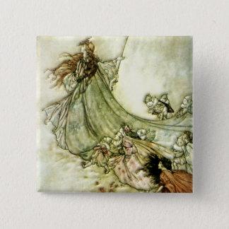 Fairies Away - Arthur Rackham 15 Cm Square Badge