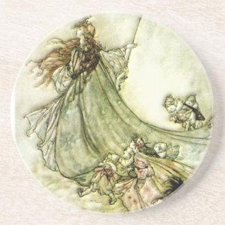 Fairies Away - Arthur Rackham Drink Coaster