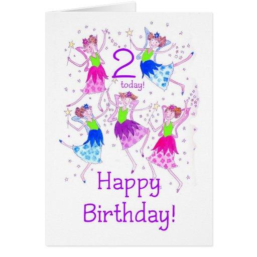 'Fairies' Birthday Card for a 2 year old