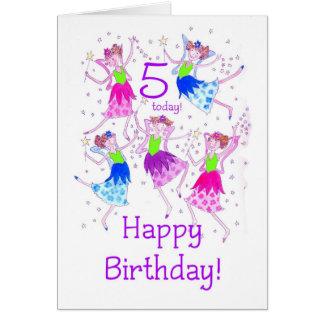 'Fairies' Birthday Card for a 5 year old