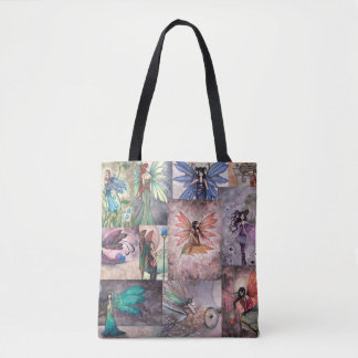 Fairies Collage by Molly Harrison Tote Bag