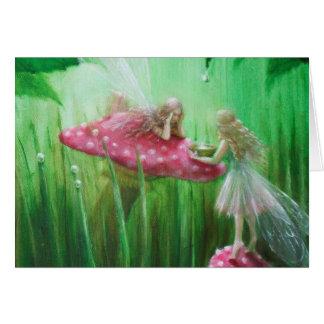 Fairies Collecting Raindrops Card