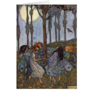 Fairies Dance Around a Tree, Card