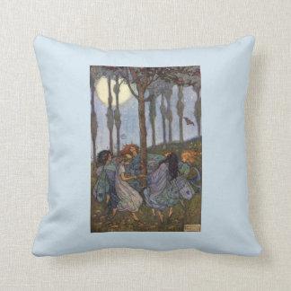 Fairies Dance Around a Tree, Cushion