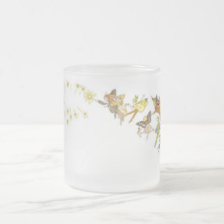Fairies Frosted Glass Coffee Mug