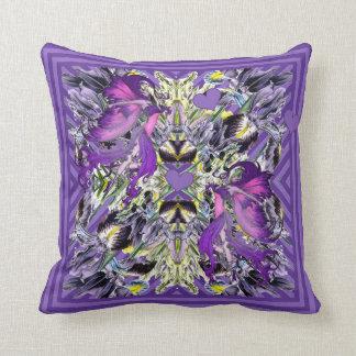 Fairies in the Iris patch Throw Pillow