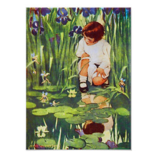 Fairies in the Lily Pond Poster