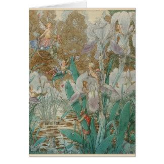 Fairies & Irises by the Stream, Card