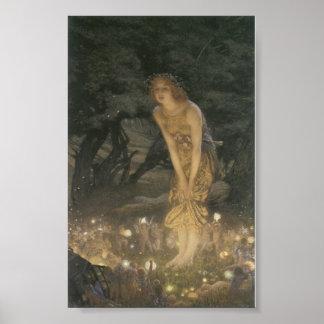 Fairies Magical Village Poster