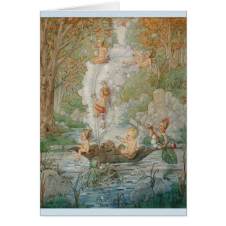 Fairies Sailing a Stream, Card