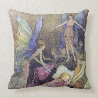 Fairies Singing Baby to Sleep Goble Fine Art Cushion