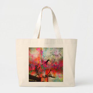Fairies Spreading Daisy Seeds Large Tote Bag