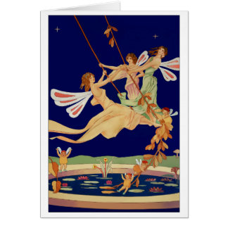 """Fairies Swing"" Greeting Card"