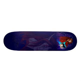 Fairy and Black Unicorn Skateboard