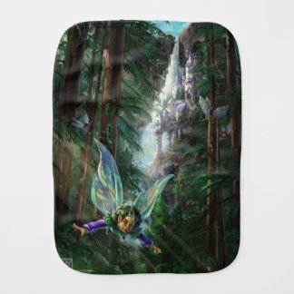 Fairy and Castles Fantasy Art Burp Cloth