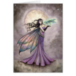 Fairy and Dragonfly Fantasy Art Greeting Card