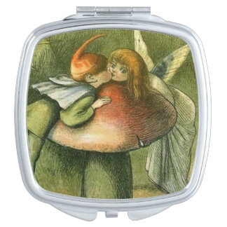 Fairy and Elf Sneaking a Kiss, Travel Mirror