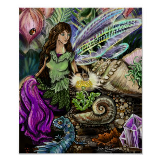Fairy and Newt Friends Poster