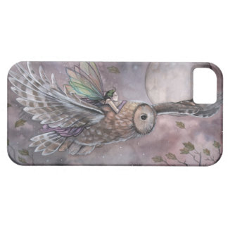 Fairy and Owl Fantasy Art iPhone Case