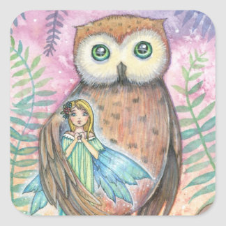 Fairy and Owl Stickers - Cute