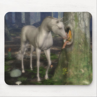 Fairy and unicorn. mouse pad
