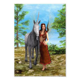 Fairy and Unicorn Photograph