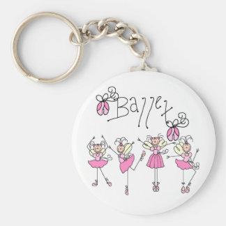 Fairy Angel Ballet Basic Round Button Key Ring