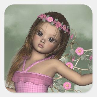 Fairy Angel Christina Square Sticker