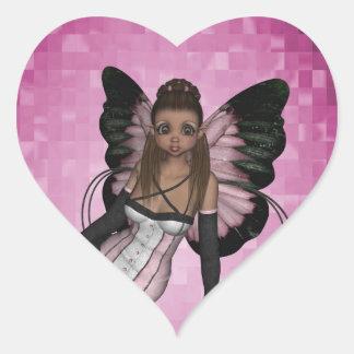 Fairy Angel Pamela Heart Sticker