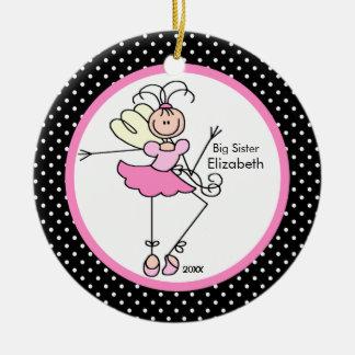 Fairy Ballerina Big Sister Christmas Ornament