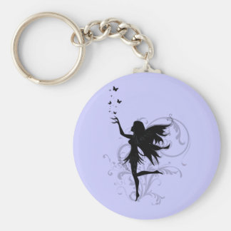 Fairy Basic Round Button Key Ring