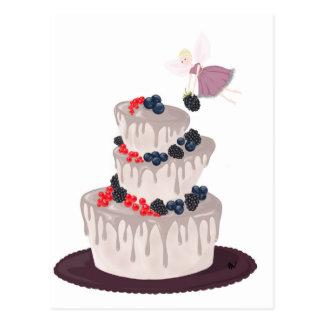 Fairy Berry Cake Postcard