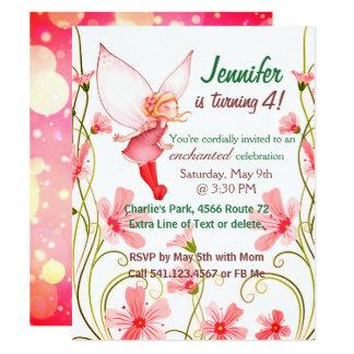 Fairy Birthday Child Girl Invitation