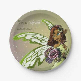 Fairy Birthday Paper Plates 7 Inch Paper Plate