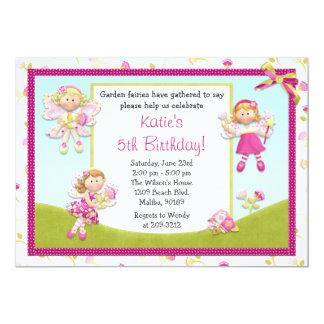 """Fairy Birthday Party Invitation 5"""" X 7"""" Invitation Card"""