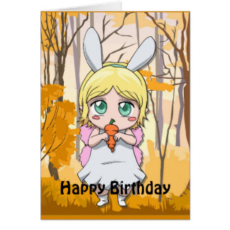 Fairy Birthday - Share my carrot Card