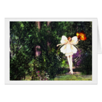 Fairy Butterfly Dance card