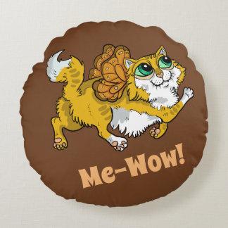 Fairy Cat Me-Wow! Round Cushion
