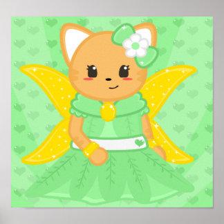 Fairy Cat Poster